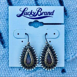 Lucky Brand Drop Earrings Gold Tone